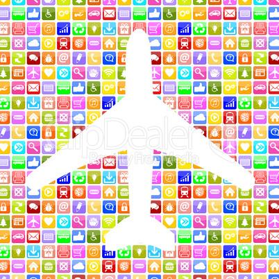 Application Apps App Flugzeug Reisen und Urlaub online buchen