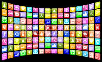 Application Apps App Icon Icons Multimedia Sammlung für Handy o