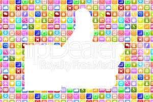 Application Apps App like Daumen hoch soziale Medien für Smartp