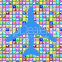 Application Apps App Flugzeug Reisen und Urlaub online buchen im