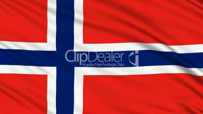Norwegian Flag, with real structure of a fabric