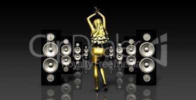 Disco Techno Party Background