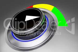 Knob with color display
