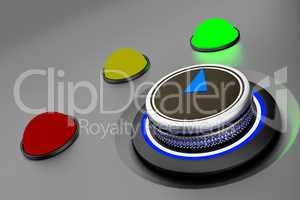 Rotary knob with colored button-display