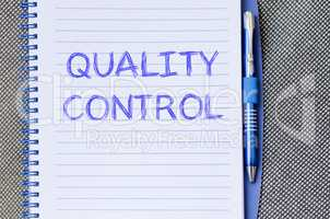 Quality control write on notebook