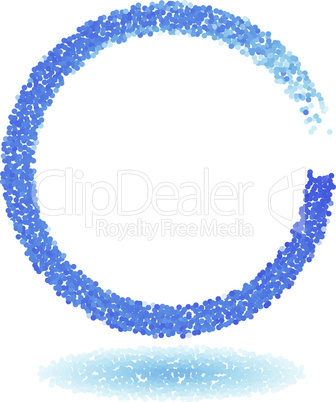 Blue dotted circle frame