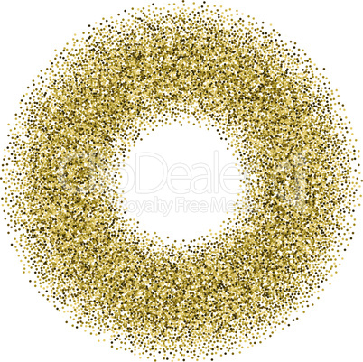 Golden confetti frame