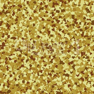 Golden hearts seamless pattern