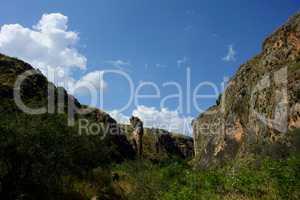 Felsensäule im Tal Amud