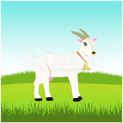 nanny goat in field.eps