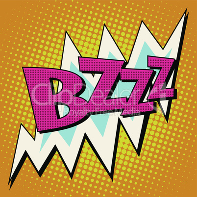 bzzz voltage electricity energy comic bubble retro text
