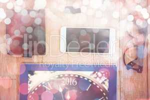 Composite image of new year countdown graphic