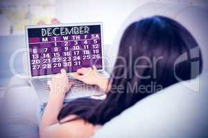 Composite image of december calendar