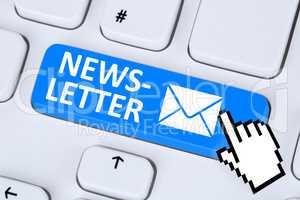 Newsletter Brief E-Mail senden im Internet für Business Marketi