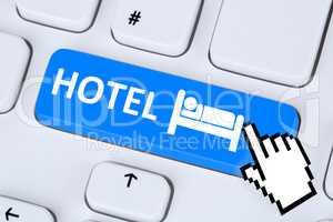 Hotel Übernachtung Zimmer Reise online buchen im Internet Compu