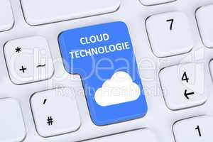 Symbol Cloud Computing Technologie Technology im Internet
