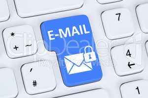 Verschlüsselte sichere E-Mail Email Mail senden im Internet mit