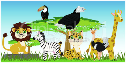animals of the africa.eps