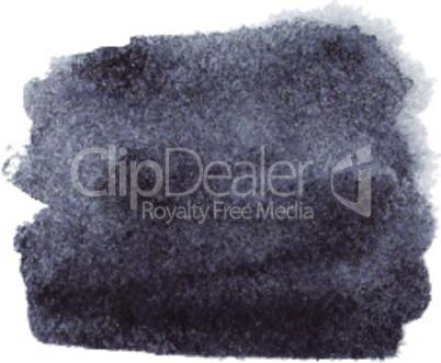 Black watercolor spot