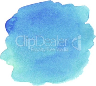 Blue watercolor spot. Vector illustration.