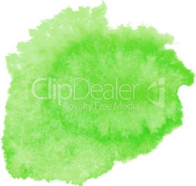 Green watercolor spot.