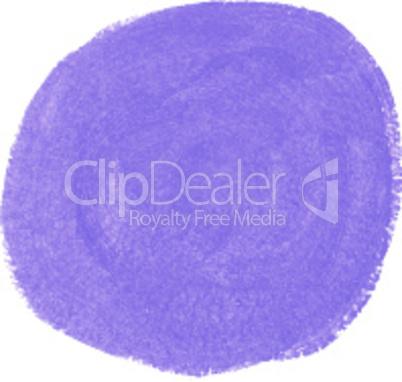 Lilac acrylic paint vector circle