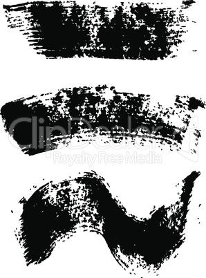 Mascara brush stroke set