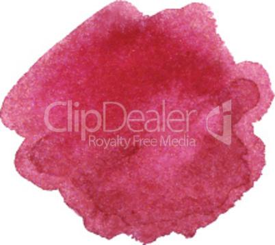 Watercolor marsala color spot