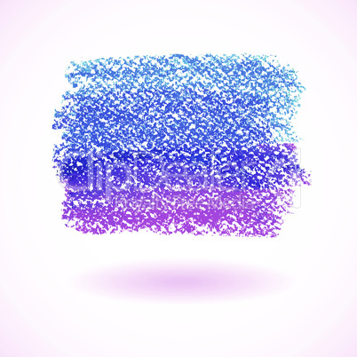 Blue and purple pastel crayon spot, isolated on white background
