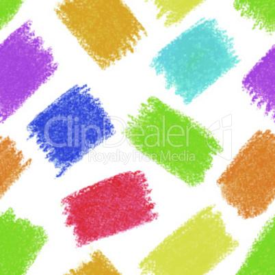 Seamless pattern background. Pastel crayon spots.