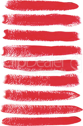 Red acrylic vector brush strokes
