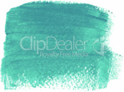 Turquoise acrylic paint vector banner