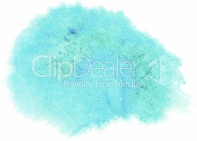 Bright blue watercolor spot