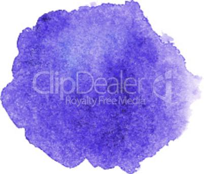 Violet watercolor spot