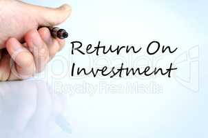 Return on investment text concept