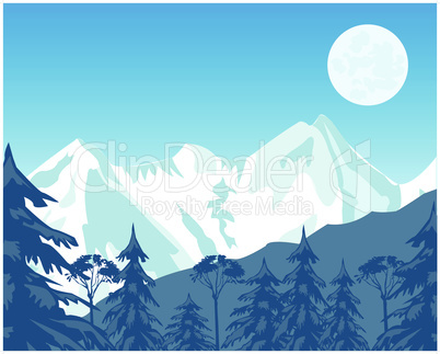 mountains and wood.eps