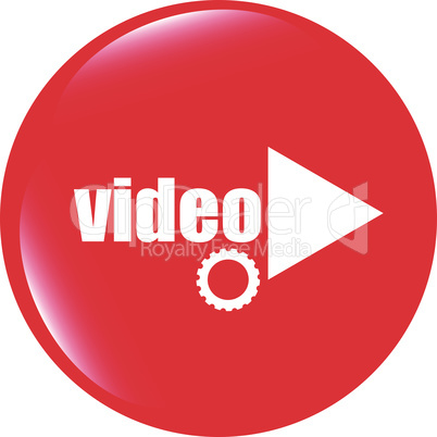 vector video play button (icon) over white background