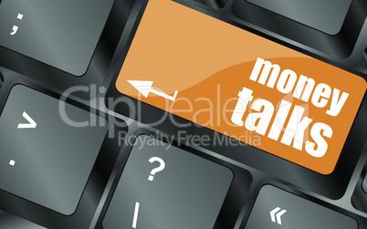 money talks on computer keyboard key button, vector illustration