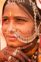 Traditional Indian female portrait