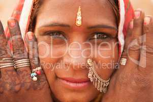Traditional Indian girl portrait