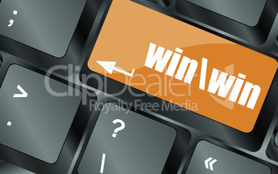 win button on computer keyboard key, vector illustration