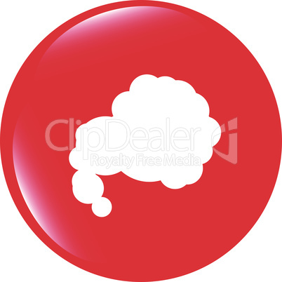vector Comic speech bubble sign icon. Chat think symbol. Circle flat button with shadow. Modern UI website navigation