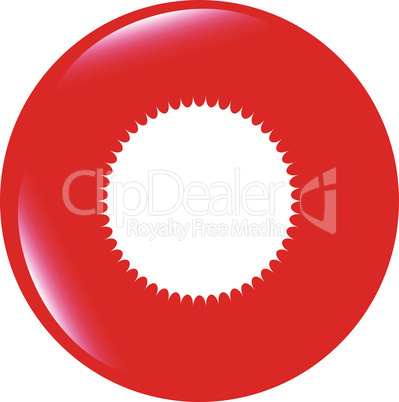 vector white glossy sphere icon button isolated on white
