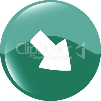 Arrow sign icon. Next button. Navigation symbol. Modern UI website button vector illustration