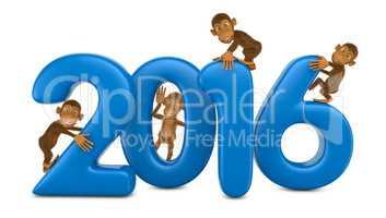 Four funny monkeys