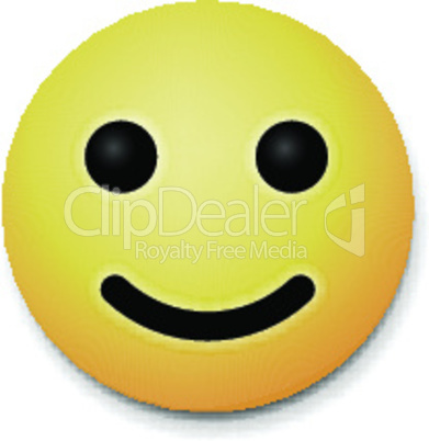 Laughing happy emoticon, emoji smile symbol, vector illustration.