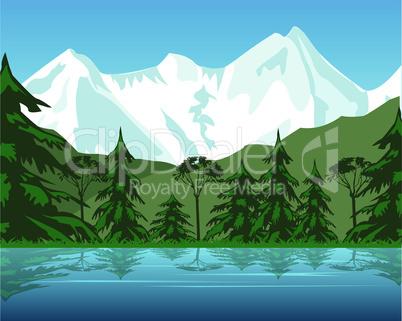 lake in mountain.eps