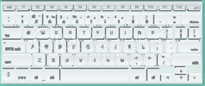Computer keyboard, isolated background, vector illustration.