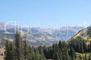 Scenic mountain landscape in Colorado