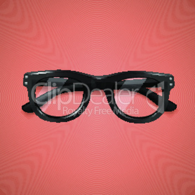 Highly detailed glasses icon, isolated on orange background, vector illustration.